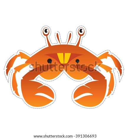 mask crab for children's masquerade - stock vector