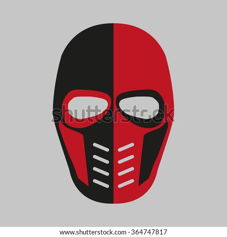 Mask  of the comic book supervillain. Vector illustration - stock vector