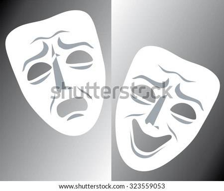mask theater - stock vector