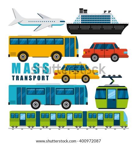 mass transport design  - stock vector