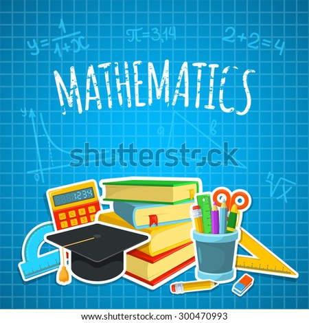 Math backdrop. Education background design. Science colorful vector composition.  - stock vector