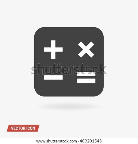 Math Icon, Math Icon Vector. - stock vector