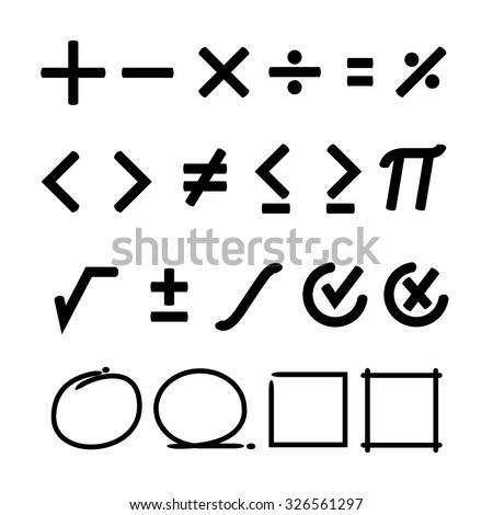 math symbol - stock vector