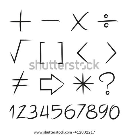 math symbols - stock vector