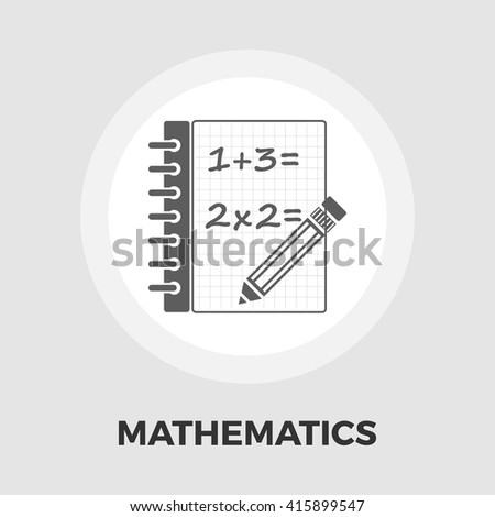 Mathematics icon vector. Flat icon isolated on the white background. Editable EPS file. Vector illustration. - stock vector