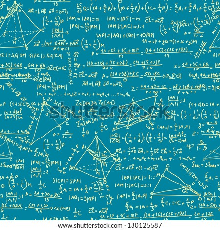 Maths seamless pattern. And also includes EPS 8 vector - stock vector