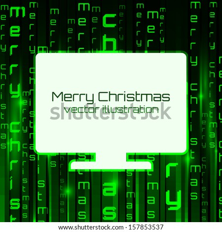 Matrix background with banner. Vector illustration - stock vector