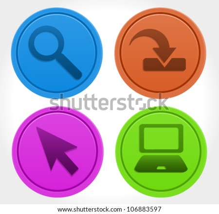 Matte Designers Icons - stock vector