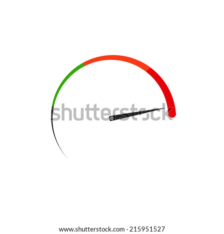 max speed - stock vector