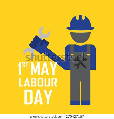 May 1st Labor (labour) day illustration conceptual construction. EPS10 - stock vector