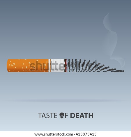 May 31st World No Tobacco Day. Poison of cigarette.  Vector. Illustration. - stock vector