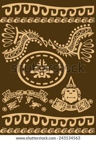 Maya and Inca pattern - stock vector