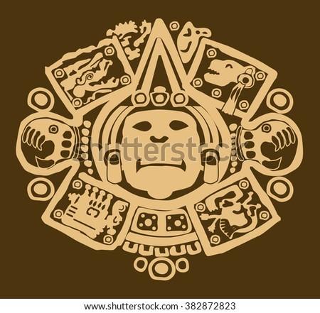 Maya designs tribal - stock vector