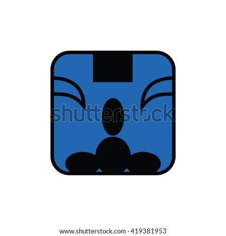 Mayan calendar symbol. Solar seal icon. Solar kin vector illustration. Dreamspell Mayan calendar. Blue Spectral Monkey - stock vector