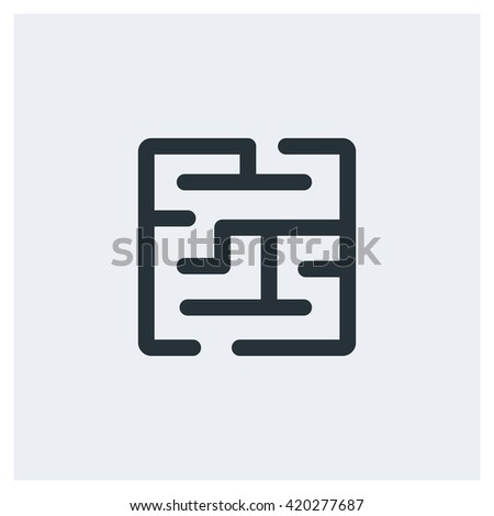 Maze Icon, Maze Icon Eps10, Maze Icon Vector, Maze Icon Eps, Maze Icon Jpg, Maze Icon Picture, Maze Icon Flat, Maze Icon App, Maze Icon Web, Maze Icon Art, Maze Icon Object - stock vector