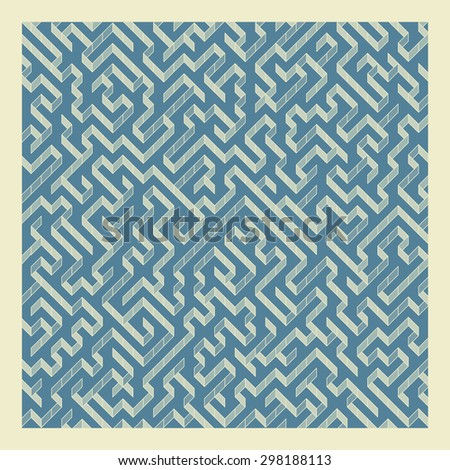 Maze. Vector Illustration Of Labyrinth. Can Be Used For Wallpaper, Background, Book Cover. - stock vector