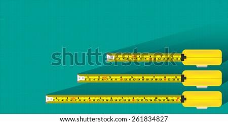 Measurement tape background vector - stock vector