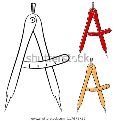 Measuring compasses. eps10 - stock vector