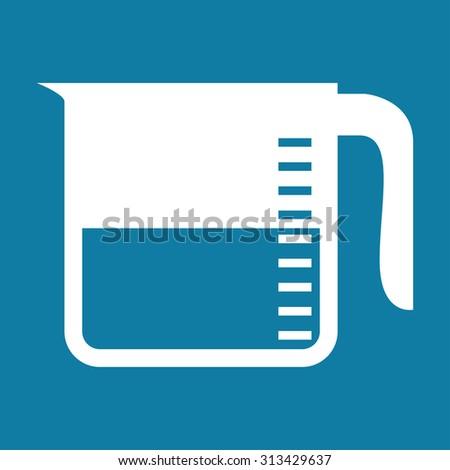 measuring cup vector icon illustration - stock vector