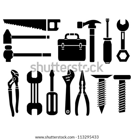 mechanic tools - stock vector