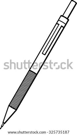 mechanical pencil - stock vector