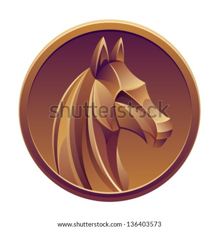 Medal - stock vector