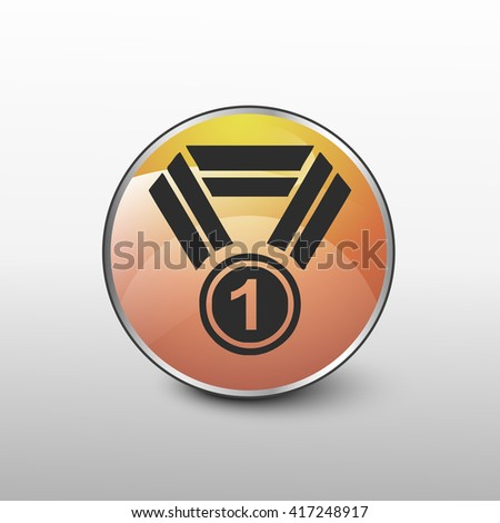 medal icon. medal sign - stock vector