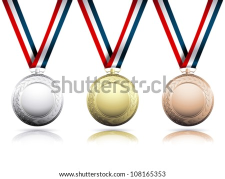 Medals - stock vector