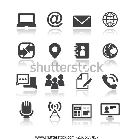 Media and communication icons  - stock vector