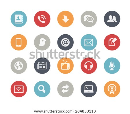 Media Communications Icons // Classics Series - stock vector