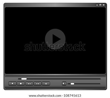 Media player - stock vector