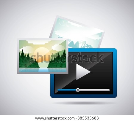 media player design  - stock vector