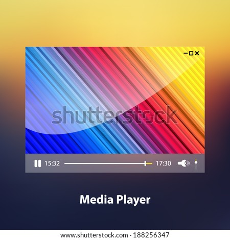 Media Player. Vector illustration - stock vector