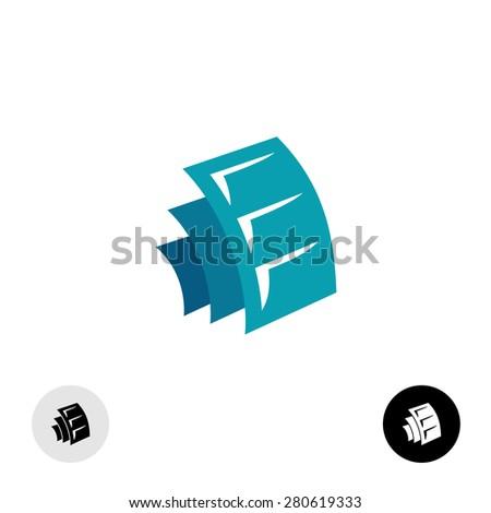 Media sheets logo design. Some docs or photo albums or film symbol. - stock vector