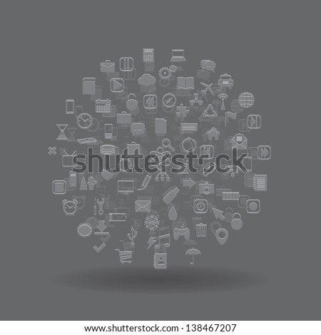 media sphere. abstract background. vector eps10 - stock vector