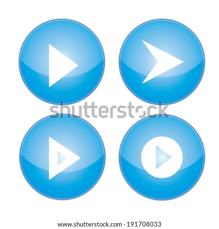 Media symbol vector - stock vector