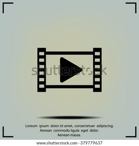 Media symbol : vector - stock vector