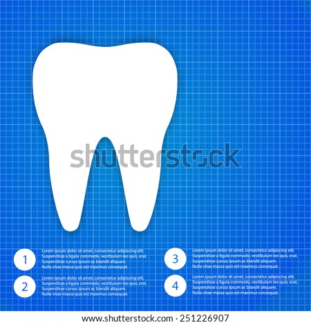 Medic background one tooth   - stock vector