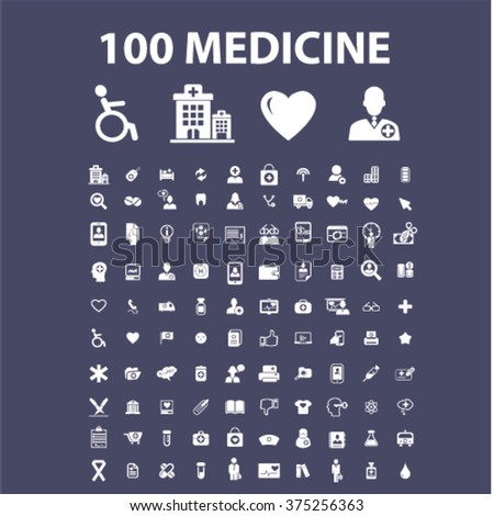 Medical and health care icons  - stock vector