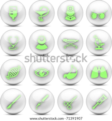 Medical and healthcare vector icons, part 2 - EPS10 - stock vector