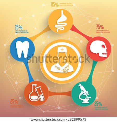 Medical and healthy info graphic design, Business concept design. Clean vector. - stock vector