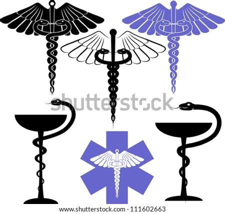 medical and pharmacological sign - eaesculapius - stock vector