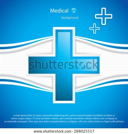 Medical background.Vector - stock vector