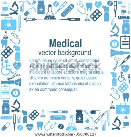 Medical background. Vector Illustration - stock vector