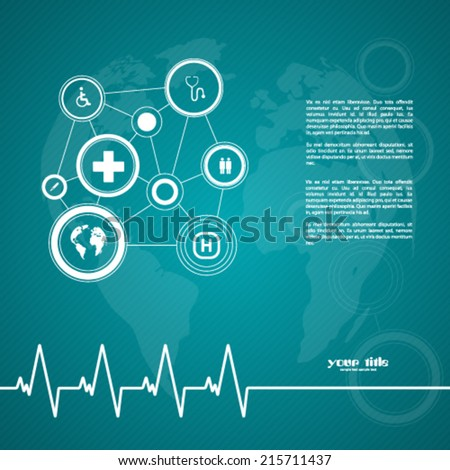 Medical background with signs - stock vector