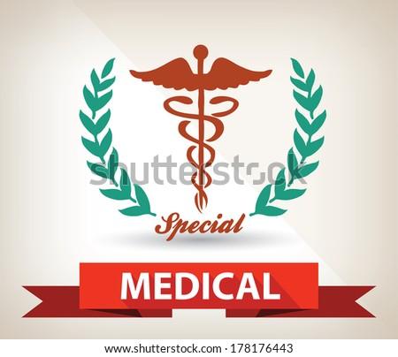 Medical badge,vector - stock vector