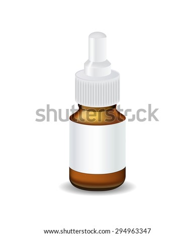 Medical Bottle Template Vector Illustration EPS10 - stock vector