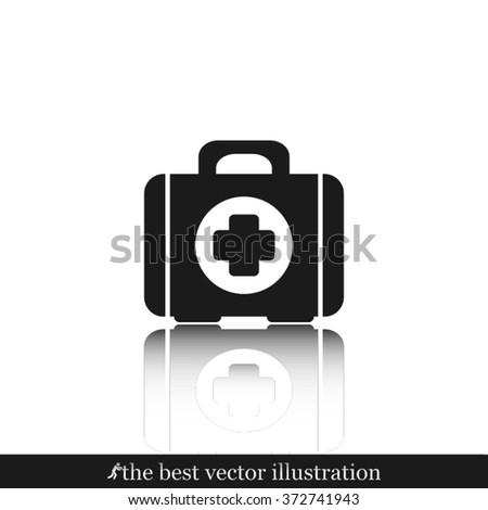 Medical briefcase icon vector illustration eps10. - stock vector