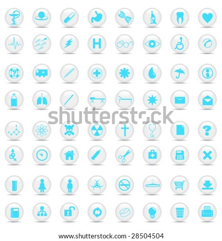 Medical buttons. Vector illustration - stock vector