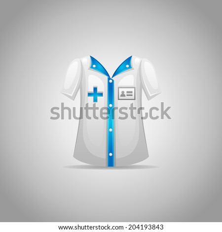 Medical clothing - stock vector